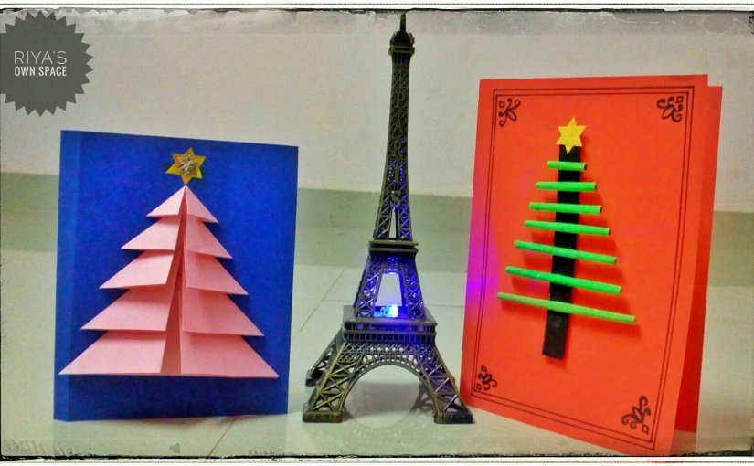 Christmas tree cards: part 1 ~From my craft's corner