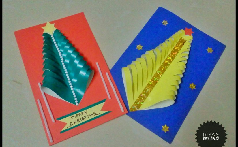 Christmas tree cards:Part 2 ~From my craft's corner