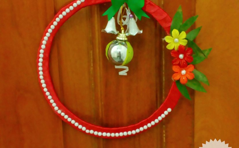 Christmas wreath ~ from my craft's corner